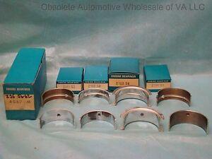 1956 – 1963 Chevrolet GMC Pontiac 235 261 Main Bearing Set STD 6 cyl NORS