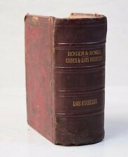Antique 1883 French Book Roger & Sorel Codes & Lois Usuelles Limited EDITION