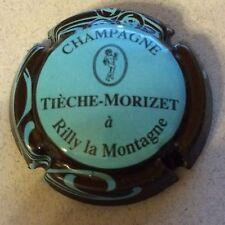 Capsule de champagne TIECHE-MORIZET (11. bleu pâle ctr marron)