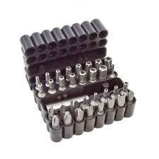 33PC SECURITY TORQUE POWER SCREWDRIVER BIT SET BELT CLIP HOLDER TORX POZI STAR