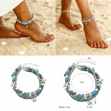 Conch Sandal Anklets Bracelet Jewelry Gift Starfish Shell Beads Beach Foot Chain
