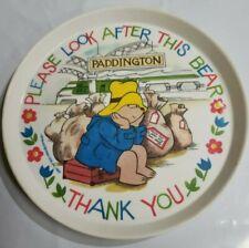 Paddington Please Look After This Bear Plate 1983 vintage Silite 1019