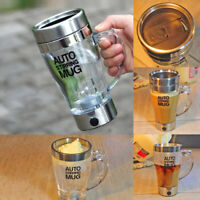 Lazy Electric Stainless Steel Self Mixing Cup Magnetic Stirring Coffee Mug Tea