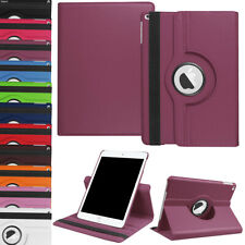 """For iPad 7th Gen 10.2"""" 360 Rotating Stand Cover Smart Folio Leather Strap Case"""