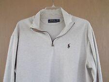 Mens RALPH LAUREN POLO rugby shirt size XL beige long sleeve top shrts FREESHIPP