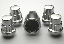 4 x Locking Wheels Nuts Locks for Fiat Seicento Abarth '98> M12 x 1.25