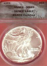 1994 American Silver Eagle Graded