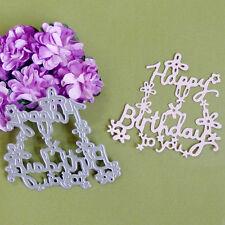 Happy Birthday Die Cutter Cutting Dies Stencil DIY Scrapbooking Album Card Craft
