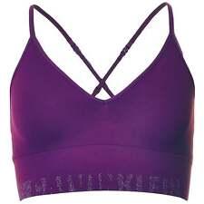 Calvin Klein Underwear CK Seamless Logo Bralette Bra, Purple / Silver Lurex Logo