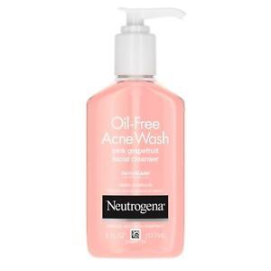 Neutrogena Pink Grapefruit Oil-Free Acne Facial Wash 6 oz. Salicylic Acid