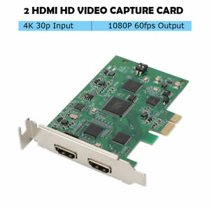HD Video Capture Card 4K 30P HDMI Input 1080P 60fps Output for PS4/HDMI Camera