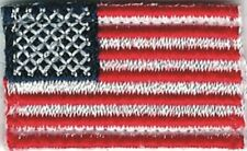"""1 1/4"""" United States American Flag Tab Patch VELCRO® BRAND Hook Fastener"""