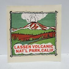 Vintage Car Window Decal Lassen Volcanic National Park California