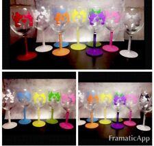Glittered Mickey & Minnie Wine Glass Disney, Gift, Secret Santa