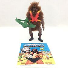 MOTU Dark Face GRIZZLOR Masters of the Universe Vintage Figure green bow comic
