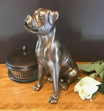 Boxer Cold Cast Bronze Figurine Sculpture Ornament Dog Lovers Gift Beauchamp