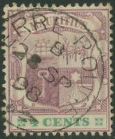 """MAURITIUS """"TERRE ROUGE"""" extremely rare superb CDS on 4 C Coat of Arms, 1898"""