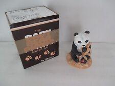 "Baby Bear Picnic by Roman Porcelain Figurine Panda Bear with Bamboo 5"" P3"