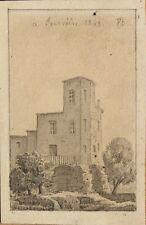 Dessin XIXe (1863), signé, Fourvière, Lyon, Drawing 19th.