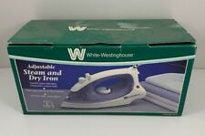 New In Box White Westinghouse Adjustable Steam And Dry Iron WWSR7562