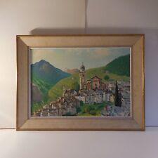 Tableau peinture sur toile à l'huile PELIL paysage village art moderne 1920