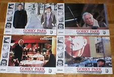 LOBBY CARDS LOTE 7 FOTOCROMOS Original 1983 GORKY PARK WILLIAM HURT LEE MARVIN