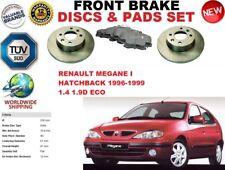 FOR RENAULT MEGANE I HATCHBACK 96-03 FRONT SOLID BRAKE DISCS SET + BRAKE PAD KIT