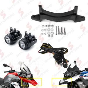 2 PROJECTEURS LED POUR MOTO E9 + CÂBLAGE + SUPPORT BMW R1200GS LC R 1250GS LC GS