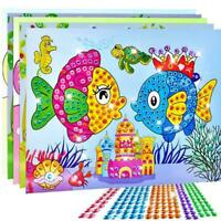 Kunst-Aufkleber Mosaik Craft Kinder Educational Puzzle Toy X5J9 Kit Diamant Z9N1