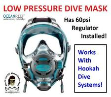 Ocean Reef G Divers Full Face Mask Set Up For Low Pressure Diving 60psi Amazing