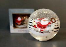 Christmas Light Up Large Glass Orb Ball Santa Scene Lovely Design Brand New