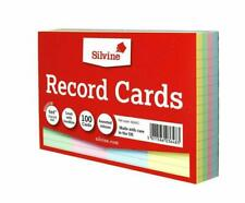Silvine 564ac Multi coloured Lined Record Cards - Pack of 100
