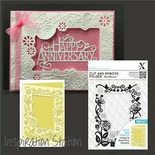 Xcut embossing folders A6 FLORAL FRAME Cut and Emboss folder Weddings XCU503804