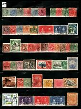 BRITISH COLONIES  LOT OF OLD STAMPS   #  11 T