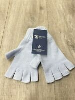 Cashmere Fingerless Gloves | Johnstons of Elgin | Made in Scotland | Powder Blue