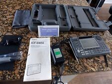 Sony ICF-SW55 Shortwave AM FM Radio Receiver Ensemble with Case, Extras, NICE!