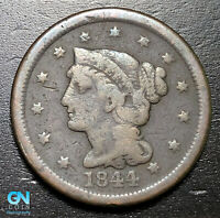 1844/81 Braided Hair Large Cent --  MAKE US AN OFFER!  #B3664