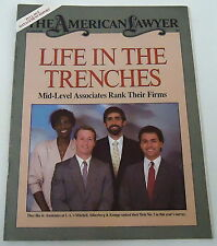 October 1986 American Lawyer magazine ~ MITCHELL, SILVERBERG, & KNUPP