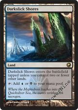 1 PLAYED FOIL Darkslick Shores - Land Scars of Mirrodin Mtg Magic Rare 1x x1