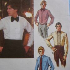 sz42 Vintage 1979 Sewing Pattern Simplicity 9014 Men's Dress Shirt New