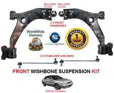 FOR VOLVO C70 2005> FRONT 2X WISHBONE ARMS 2 STABILISER LINK BARS SUSPENSION KIT