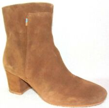 Toms Evie Brown Suede Women's Ankle Boots 6.5 M