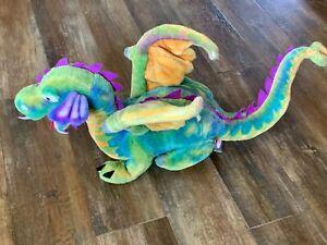 Melissa and & Doug Dragon Tie Dye Colorful Giant Large Plush Animal Stuffed