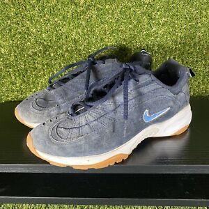 Vintage Nike Blue Suede Cross Training Shoes - UK Size 5.5 EU 39