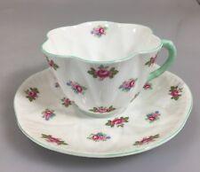 Shelley Dainty Rosebud Scalloped Edge Tea Cup and Saucer Bone China England
