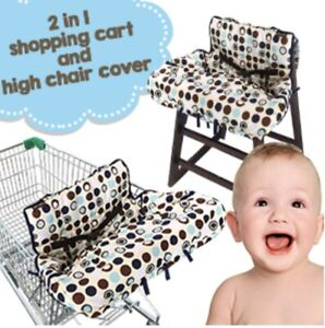 💛 CROC N FROG 2-n-1 Shopping Cart Cover High Chair Cover - Cover Folds to Pouch