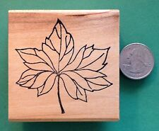 Big Leaf, Wood Mounted Rubber Stamp - Shrinky-Dink