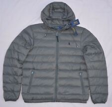 New XL POLO RALPH LAUREN Mens packable puffer down jacket coat grey Extra Large