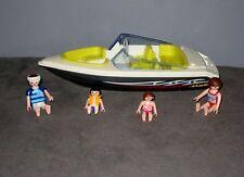 Vedette Bateau Hors Bord  Summer Fun Playmobil 4862 + Figurines