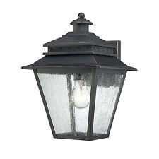"""Quoizel CAN8409WB - Carson Wall Lantern 13.5""""H Weathered Bronze 1-Light"""